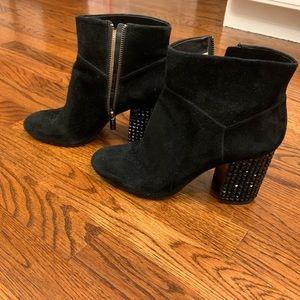 Michael Kors Shoes - Michael Kors Black Suede Booties -heel detail S10